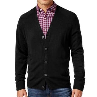 Weatherproof NEW Black Mens Size XL Button Down Cardigan Sweater|https://ak1.ostkcdn.com/images/products/is/images/direct/5f65435b573619e2a3f58638d208cf876fc96563/Weatherproof-NEW-Black-Mens-Size-XL-Button-Down-Cardigan-Sweater.jpg?impolicy=medium