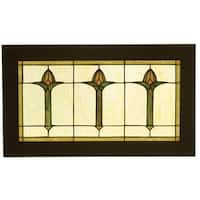 Meyda Tiffany 97961 Stained Glass Tiffany Window from the Arts & Crafts Collection - n/a