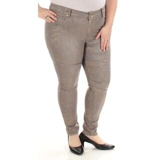 CELEBRITY PINK $64 Womens New 1003 Gray Printed Metallic Jeans 20 Juniors B+B