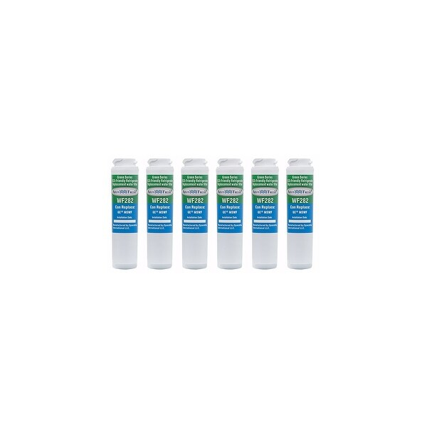 Replacement Water Filter For GE MSWF Refrigerator Water Filter by Aqua Fresh (6 Pack)