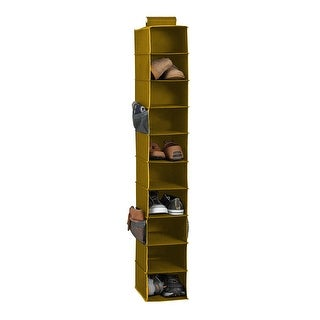 10-Shelf Hanging Shoe Closet Organizer, Natural