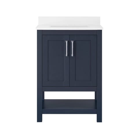 Ove Decors Vegas 24 in. Single Sink Bathroom Vanity in Midnight Blue