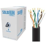 SolidRun by Sewell, Cat5e Bulk Cable, 250 ft., UTP, CMR, Black, Pull Box