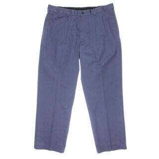 Haggar Mens Twill Classic Fit Khaki Pants