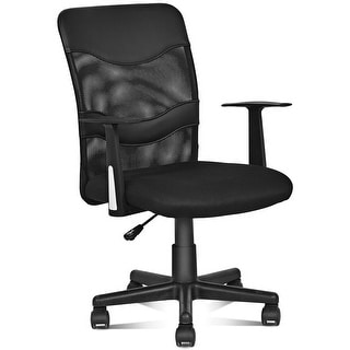 Costway Modern Mesh Mid-Back Executive Computer Desk Task Office Chair Ergonomic Black
