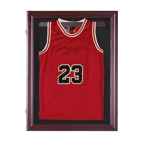 "HOMCOM 32"" x 24"" UV-Resistant Sports Jersey Frame Display Case"