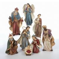 "Eight Piece Inspirational Religious Christmas Nativity Figurine Set 6.25"" - multi"
