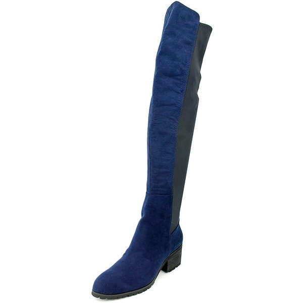 Charles By Charles David Rose Round Toe Canvas Over the Knee Boot