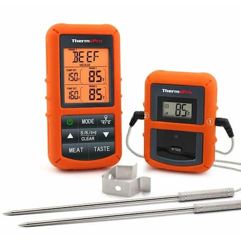 ThermoPro TP20 Wireless Remote Cooking Food Meat Thermometer with Dual Probe for Smoker Grill BBQ