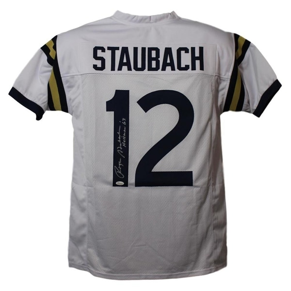 c60d42c7cfe Shop Roger Staubach Autographed Navy Midshipmen White XL Jersey Heisman 63  JSA - Free Shipping Today - Overstock - 21870484