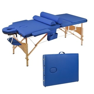 Link to Saloniture Folding Portable Beauty Massage Table Set 70CM Wide Similar Items in Aromatherapy & Massage