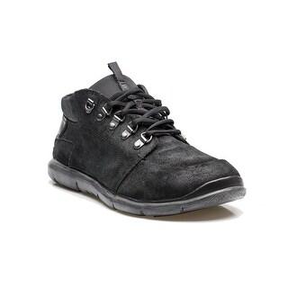 Prada Men's Running Trainer Shoes Suede Leather Black