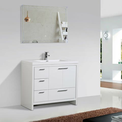 Alma-Allier 42-inch Freestanding Vanity with Integrated Sink