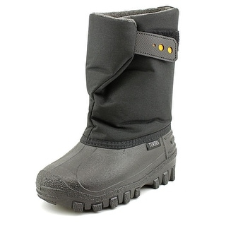 Tundra Teddy 4 Youth Round Toe Synthetic Black Winter Boot