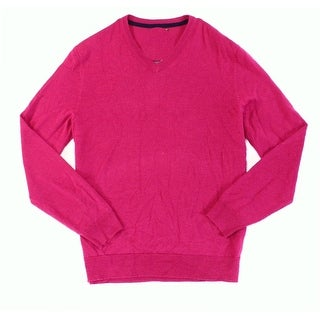 Club Room NEW Berry Glaze Pink Mens Size XL V-Neck Wool Knit Sweater