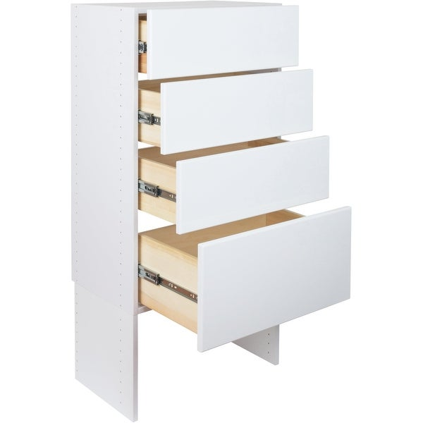 Modular Closets 36 Tall Wood Tower Closet Organizer System With Solid Dovetail Drawers