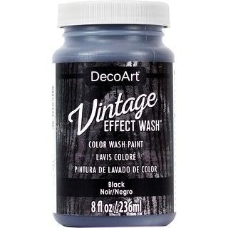 Vintage Effect Wash Paint 2Oz-Black
