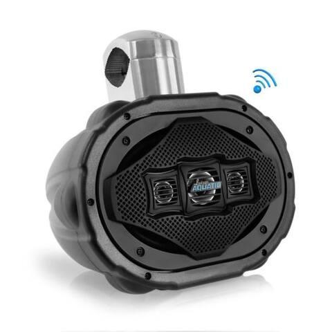 6'' x 9'' Bluetooth Marine Wakeboard Speaker, Water Resistant 4-Way Tower Speaker, 1200 Watt (Black)