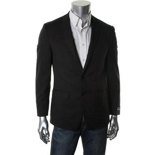 DKNY Mens Wool Skinny Fit Two-Button Suit Jacket - 40S