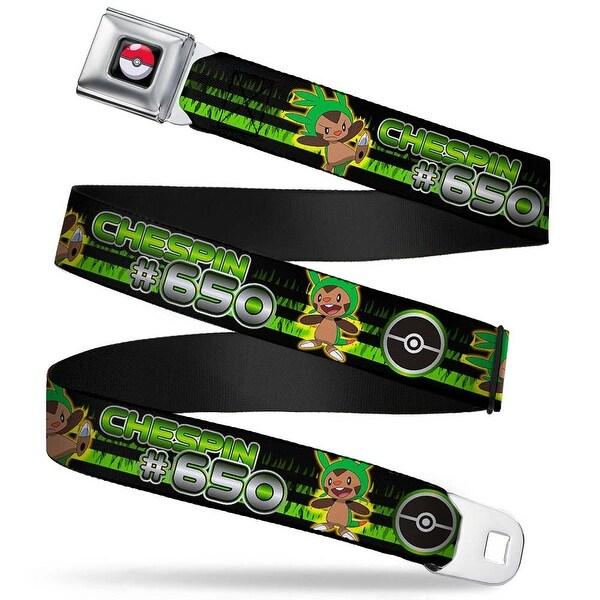 Pok Ball Full Color Black Chespin #650 Poses Pok Ball Grass Stripe Black Seatbelt Belt