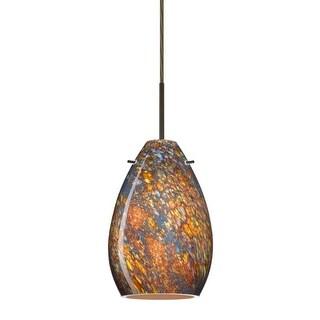 Besa Lighting 1BT-1713CE Pera 1 Light Cord-Hung Mini Pendant with Ceylon Glass Shade