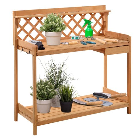 Buy Potting Tables Online At Overstock Our Best Outdoor Decor Deals