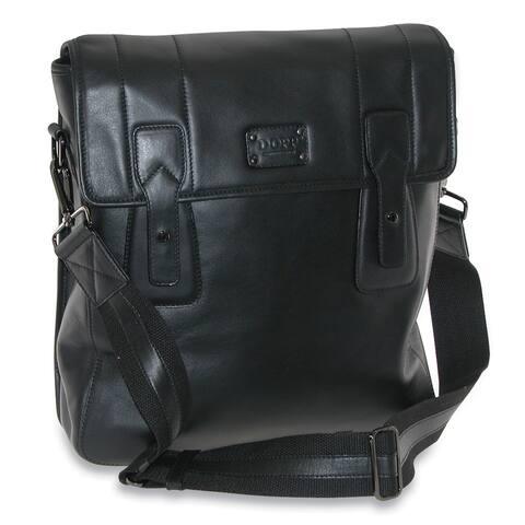 DOPP Men's Leather Gear Urban Messenger Bag - one size