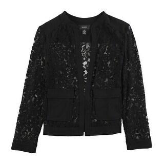 Link to Alfani Womens Lace Bomber Jacket, black, Medium Similar Items in Women's Outerwear
