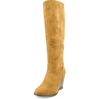 Rampage Henrietta Women Round Toe Synthetic Tan Knee High Boot