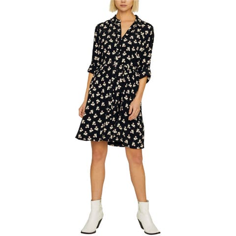Sanctuary Clothing Womens Floral Print Shirt Dress