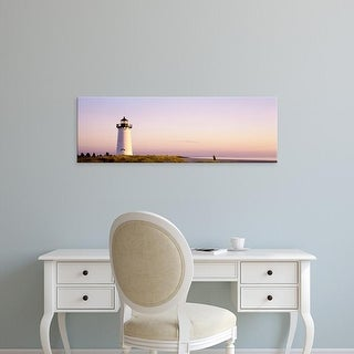 Easy Art Prints Panoramic Images's 'Edgartown Lighthouse, Marthas Vineyard, Massachusetts, USA' Premium Canvas Art