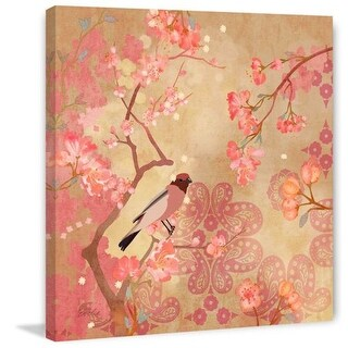 Marmont Hill Plum Blossoms Evelia Painting Print on Canvas