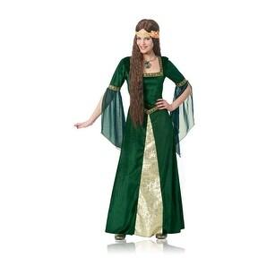 Womens Green Renaissance Lady Halloween Costume