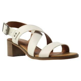 c1dbce9fb65c5 Sugar Womens 82390Ija8 White Ankle Strap Heels Size 8