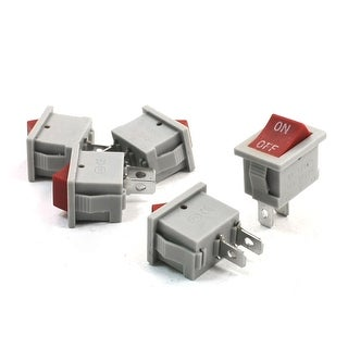 5Pcs SPST 2P 2 Positions Boat Rocker Switch AC 250V/6A 125V/10A Gray