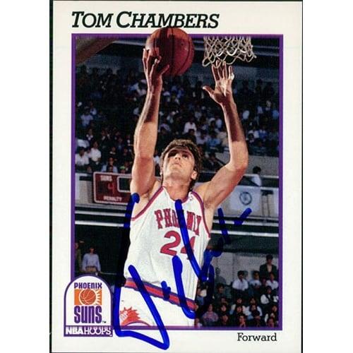 Signed Chambers Tom Phoenix Suns 1991 NBA Hoops Basketball Card Autographed
