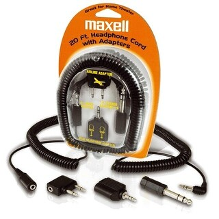 """MAXELL MXLHP20B Maxell 190399 Headphone Extension Cord and Adapters"""