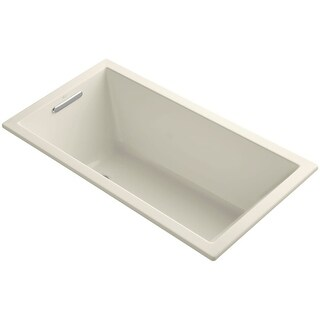 """Kohler K-1130 Underscore Collection 60"""" Drop In or Undermount Soaking Bath Tub with Slotted Overflow"""
