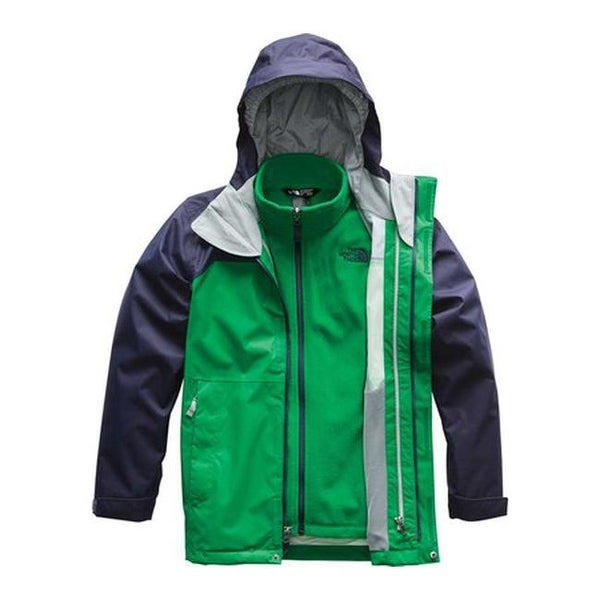 978a5c487bc107 Shop The North Face Boys  Vortex Triclimate Jacket Primary Green - Free  Shipping Today - Overstock - 25667230