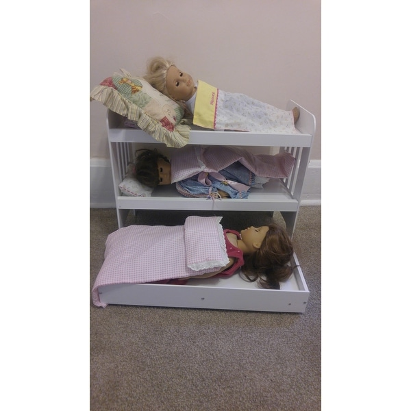 Shop Badger Basket Doll Trundle Bunk Bed With Ladder Free Shipping