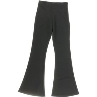 Aqua Womens Stretch Solid Dress Pants
