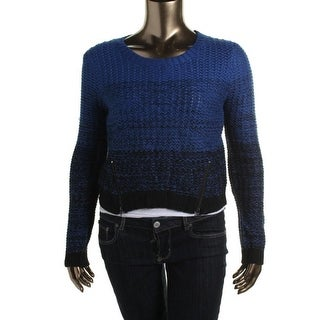 Freshman Womens Juniors Pullover Sweater Knit Cropped