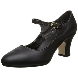 Capezio Womens Manhattan Character Dance Shoes Leather Performance