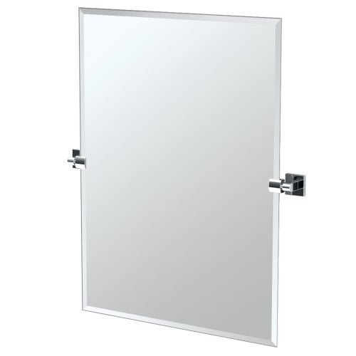 "Gatco 4059S Elevate 27-1/2"" Rectangular Beveled Wall Mounted Mirror with Chrome Accents"