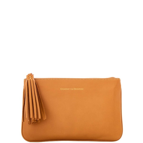 Dooney & Bourke Lambskin Carrington Pouch (Introduced by Dooney & Bourke at $88 in Oct 2016) - camel
