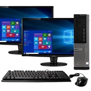 Dell 990 Intel  i7 16GB 500GB HDD Windows 10 Home WiFi Desktop PC - Black