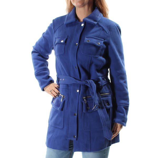 Shop Womens Blue Casual Peacoat Coat Size L Free Shipping Today Overstock 22430275