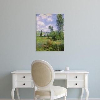Easy Art Prints Claude Monet's 'View of Vétheuil' Premium Canvas Art