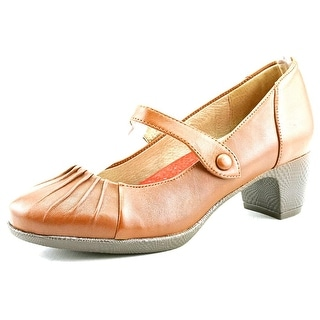 Softwalk Ireland Women N/S Round Toe Leather Brown Mary Janes