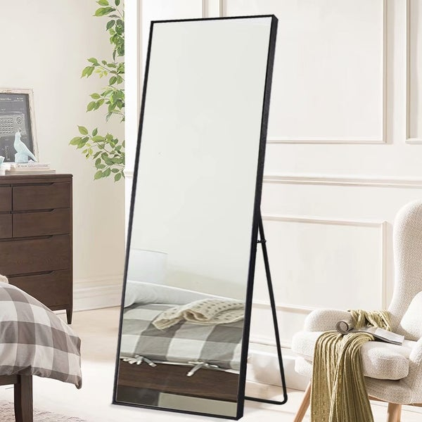 Large Full-length Floor Mirror with Stand. Opens flyout.